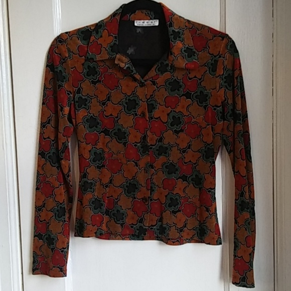 Rampage Tops - Vintage Floral Button Up